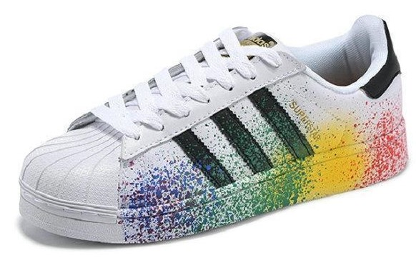 baskets-adidas-superstar-de-couleur-blanche