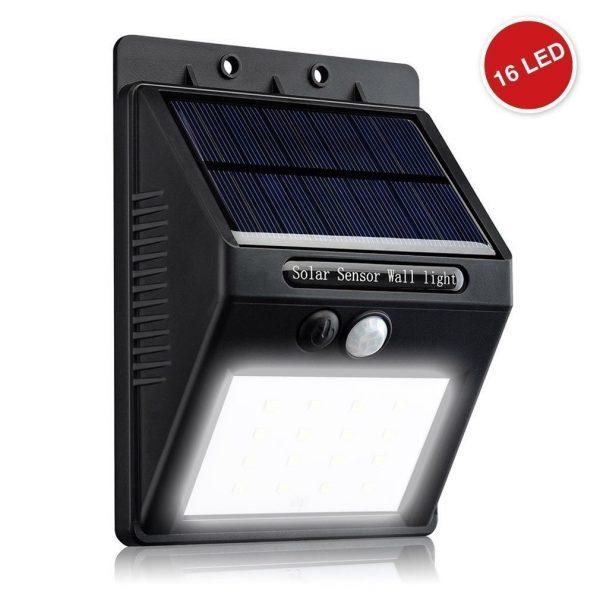 Lampe Solaire – Eclairage Extérieur Imperméable 16 LED   Abidjan Bazar