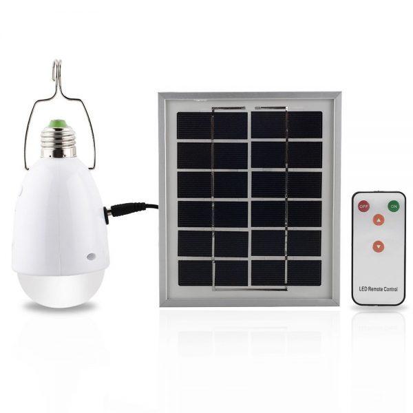 ampoule solaire 12 led avec t l commande et intensit variable abidjan bazar. Black Bedroom Furniture Sets. Home Design Ideas